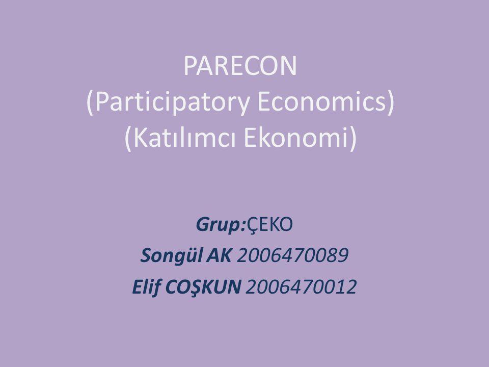 Katılımcı Ekonominin Kurumları 1.İşçi ve Tüketici Konseyleri: İşçilerin kararlara katılımını sağlayan işçi konseyleri oluşturulmalıdır.Tüketici kanadında ise bireysel tüketiciler,yaşama grupları,mahalle grupları ve tüketici konseyleri vardır.