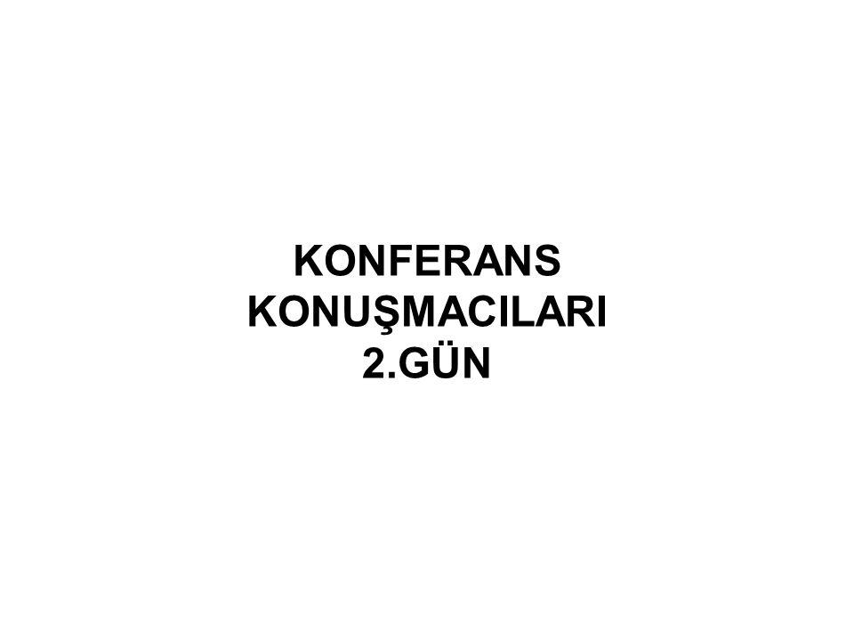 KONFERANS KONUŞMACILARI 2.GÜN