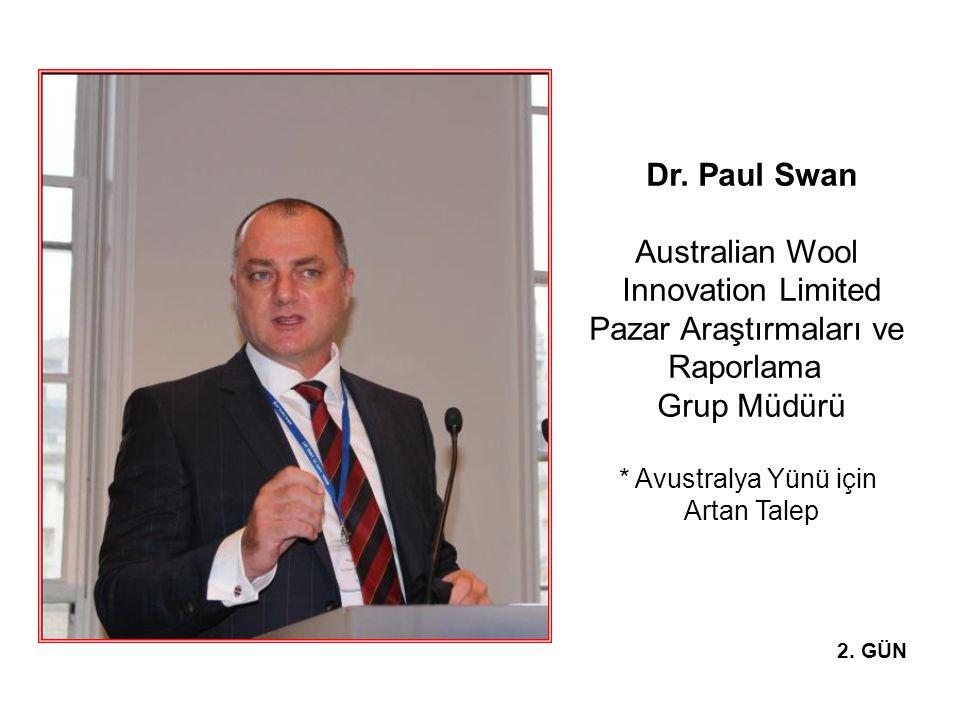 Dr. Paul Swan Australian Wool Innovation Limited Pazar Araştırmaları ve Raporlama Grup Müdürü * Avustralya Yünü için Artan Talep