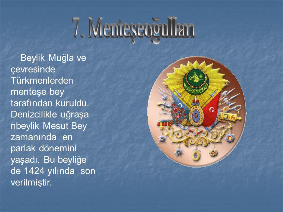 Birgi merkezli olarak İzmir, Aydın, Efes, Tire ve Selçuk civarında Germiyanoğulları komutanlarından Aydınoğlu Mehmet bey tarafından kuruldu. En parlak