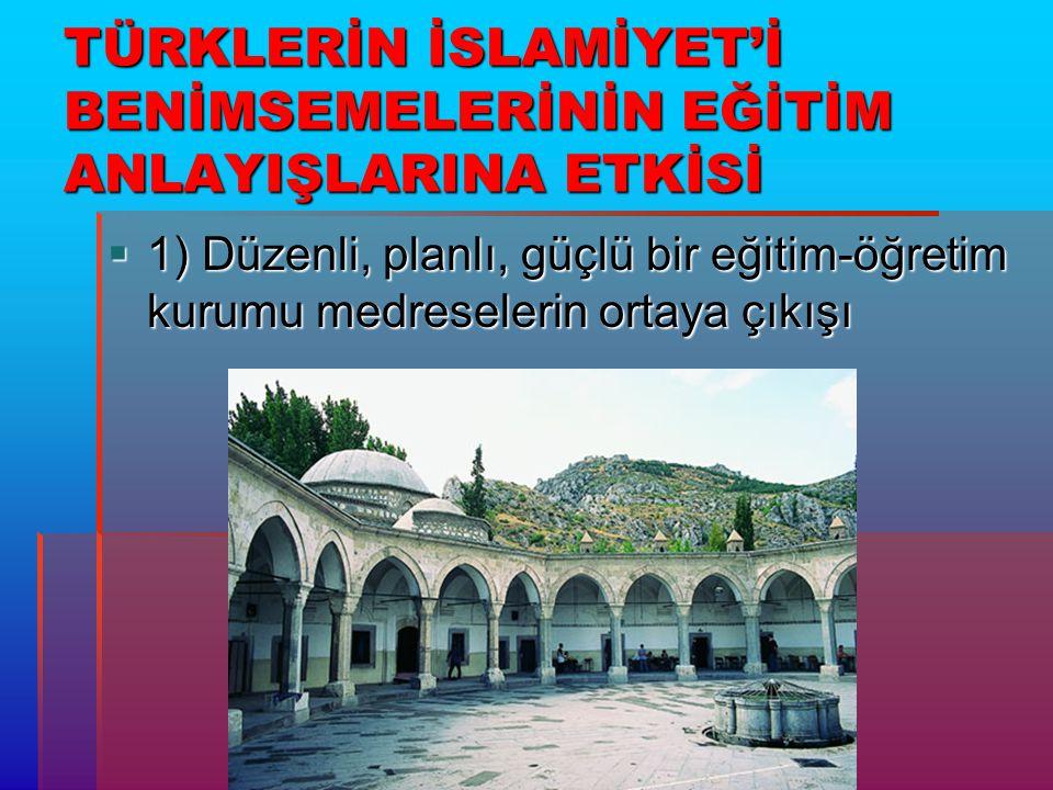 2) İslam Dünyasında Arap, İranlı v.b.