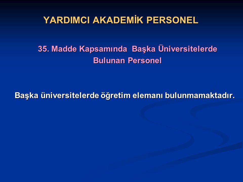 YARDIMCI AKADEMİK PERSONEL 35.