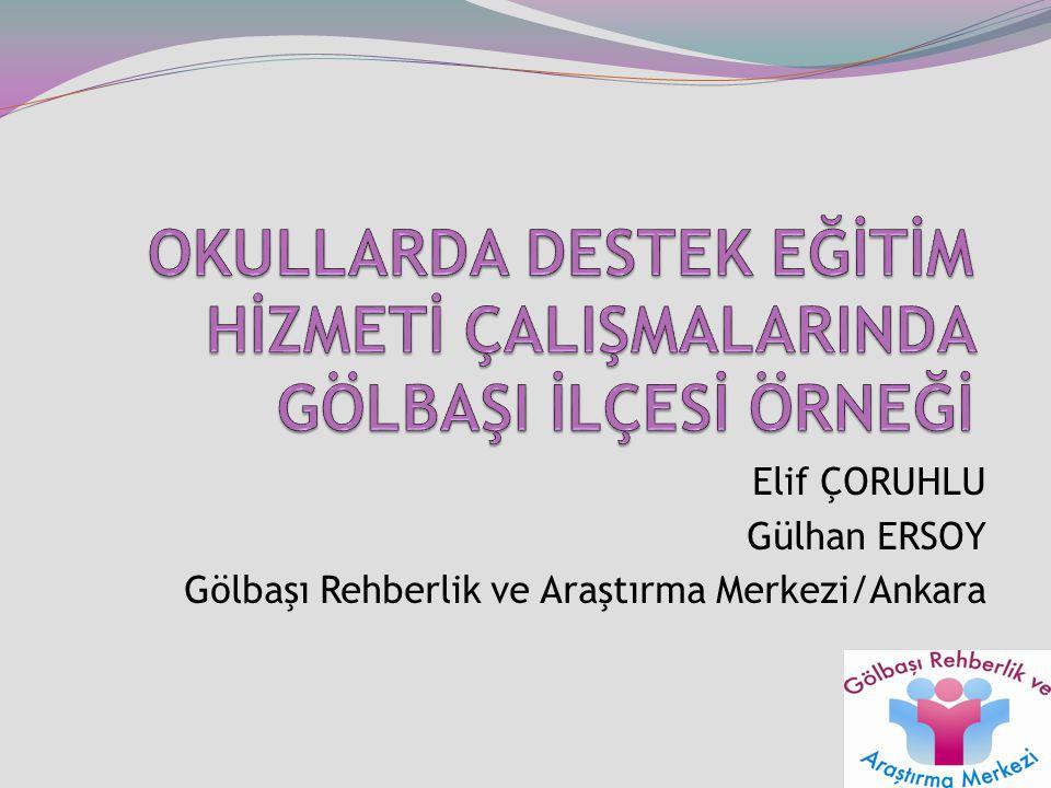 Elif ÇORUHLU Gülhan ERSOY Gölbaşı Rehberlik ve Araştırma Merkezi/Ankara 1