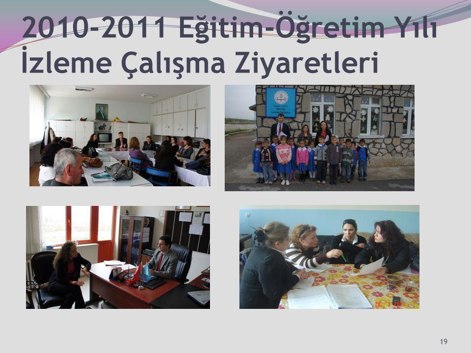 2010-2011 Eğitim-Öğretim Yılı İzleme Çalışma Ziyaretleri 19