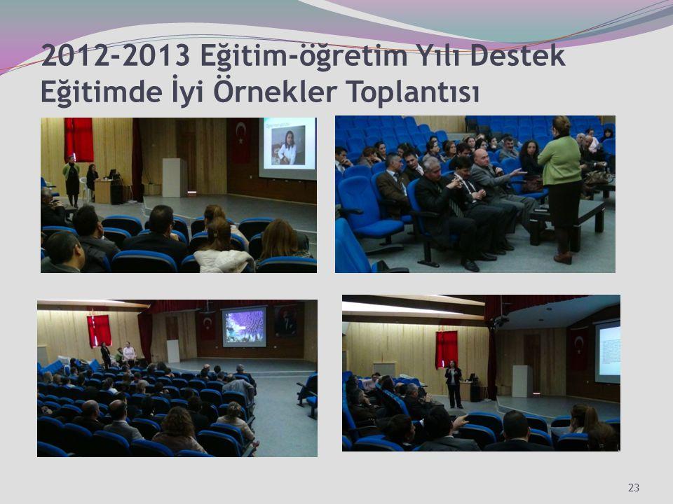 2012-2013 Eğitim-öğretim Yılı Destek Eğitimde İyi Örnekler Toplantısı 23