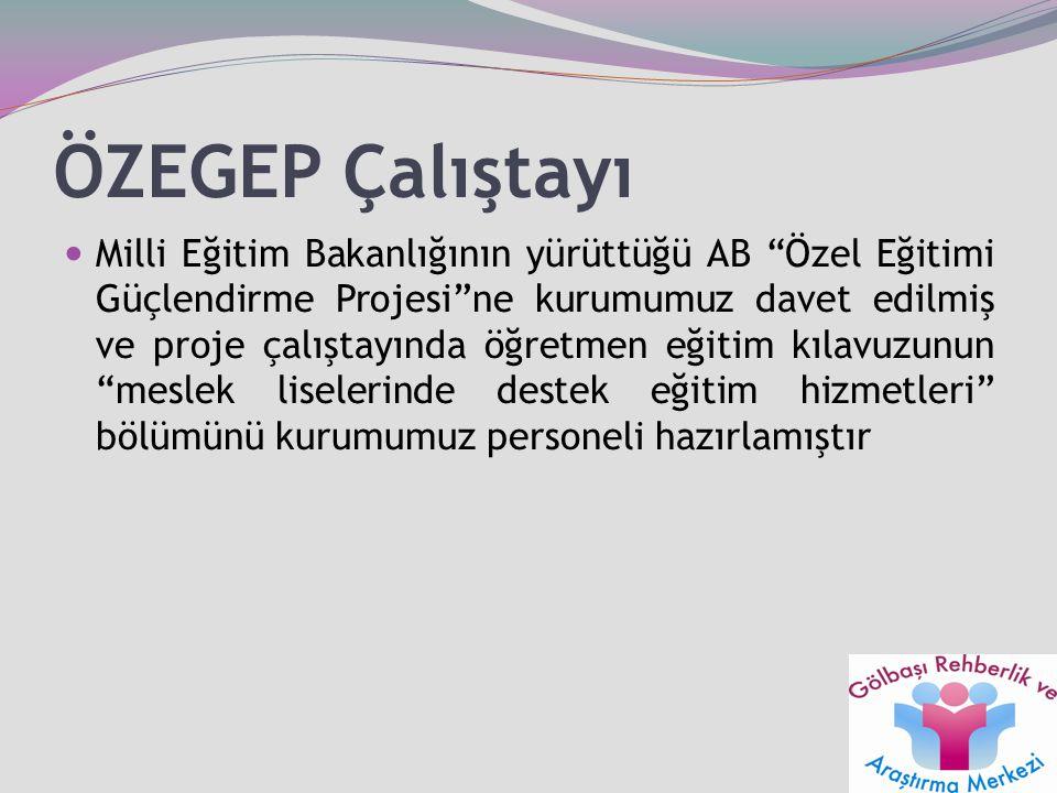 """ÖZEGEP Çalıştayı Milli Eğitim Bakanlığının yürüttüğü AB """"Özel Eğitimi Güçlendirme Projesi""""ne kurumumuz davet edilmiş ve proje çalıştayında öğretmen eğ"""