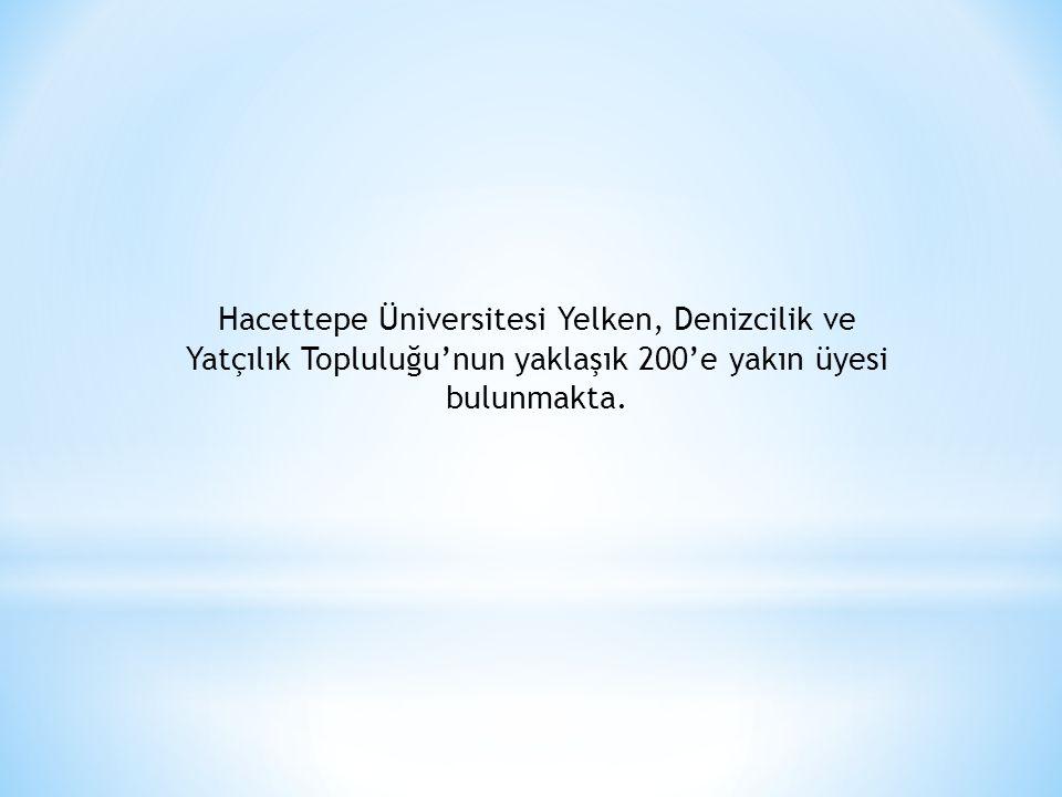 Hacettepe Üniversitesi Yelken, Denizcilik ve Yatçılık Topluluğu'nun yaklaşık 200'e yakın üyesi bulunmakta.