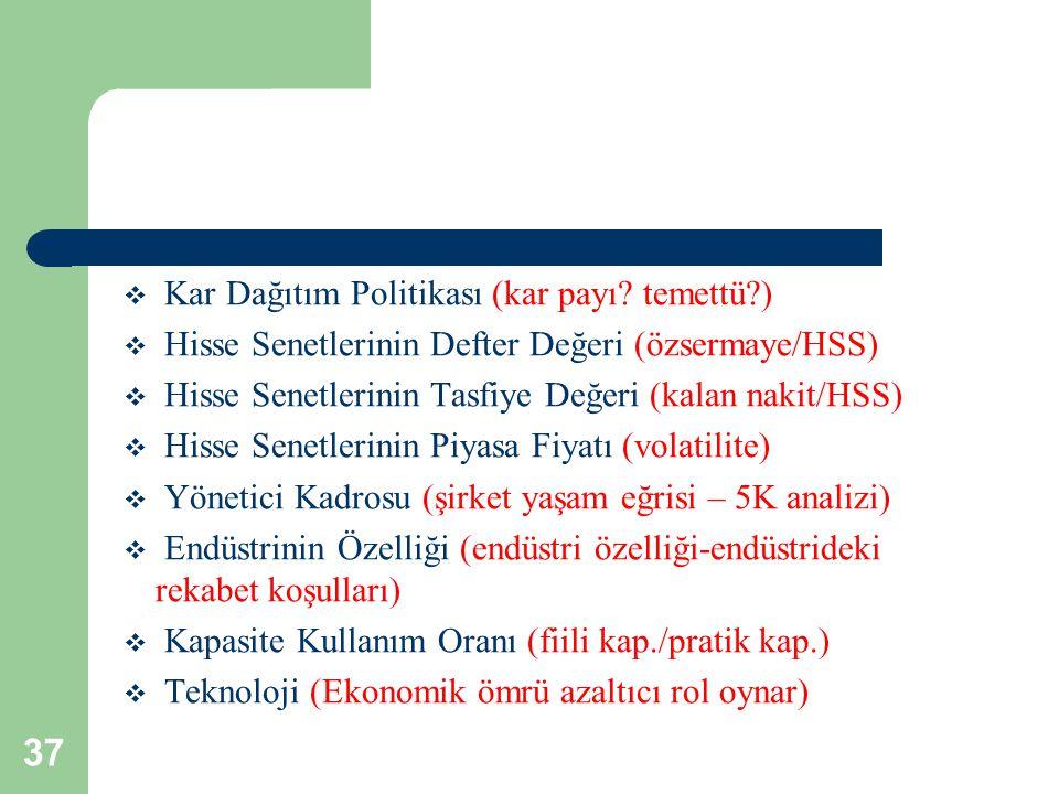 37  Kar Dağıtım Politikası (kar payı.
