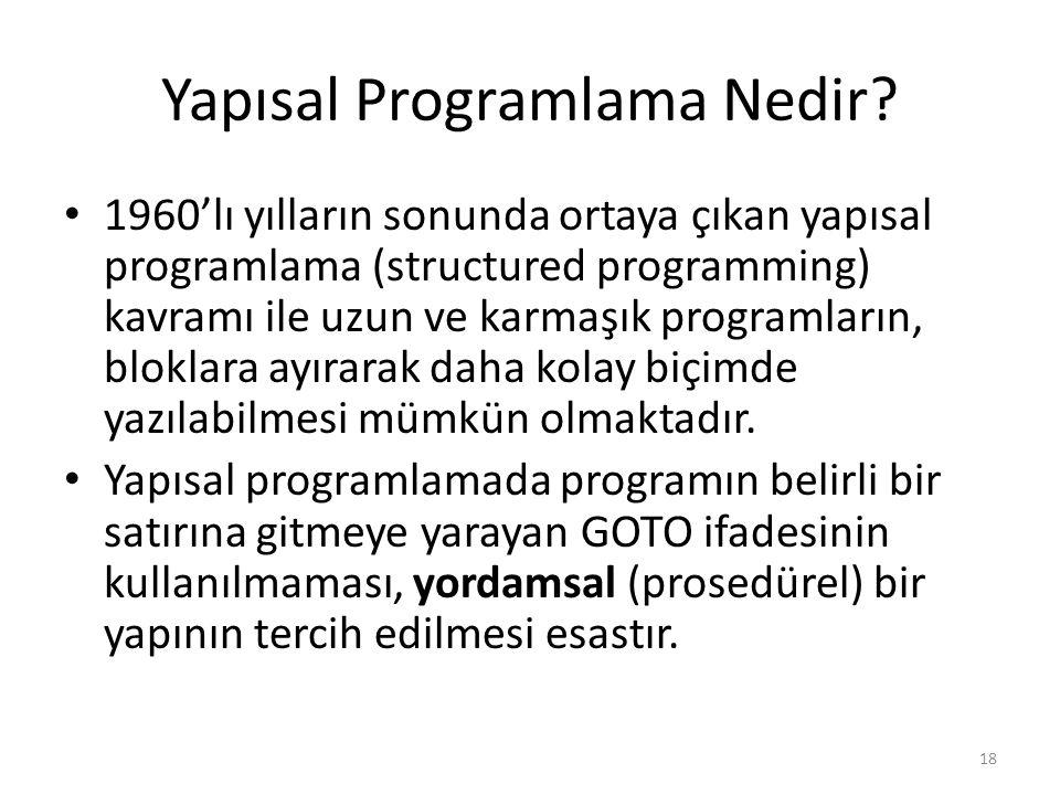 Yapısal Programlama Nedir.