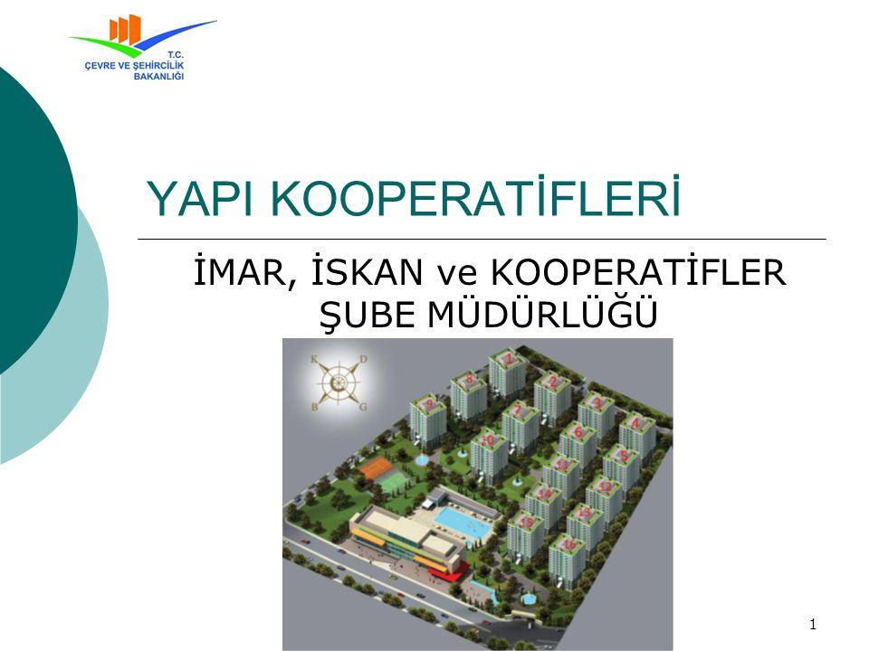 Mardin Çevre ve Şehircilik İl Müdürlüğü - 04.09.201212 Müdürlüğümüz Görev ve Yetkileri Konut Yapı Kooperatifleri (77), Küçük Sanayi Sitesi Yapı Kooperatifleri (5), ve Toplu İş Yeri Yapı Kooperatifleri (6) Toplam 88 Yapı Kooperatifi bulunmaktadır.