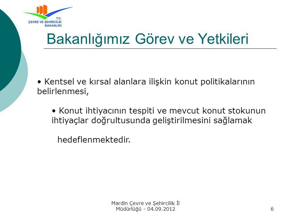 Yapı Kooperatifleri Otomasyonu ve Denetleme Projesi Mardin Çevre ve Şehircilik İl Müdürlüğü - 04.09.201217