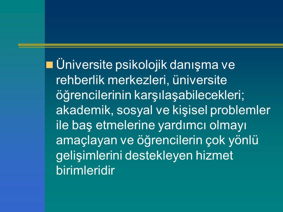 Mevcut Durumda Sorunlar Personel yetersizliği Değişik alanlara ilişkin kadro yokluğu (PDR, Sosyal hizmetler…) Üniversite içi birimler arasında koordinasyon/işbirliği güçlükleri Üniversiteler arasında koordinasyon/işbirliği güçlükleri Ekip çalışmasında sorunlar (eleman yetersizliği..) Mesleki yasal düzenlemelere ilişkin güçlükler (görev tanımları…) Özlük hakları ile ilgili sorunlar