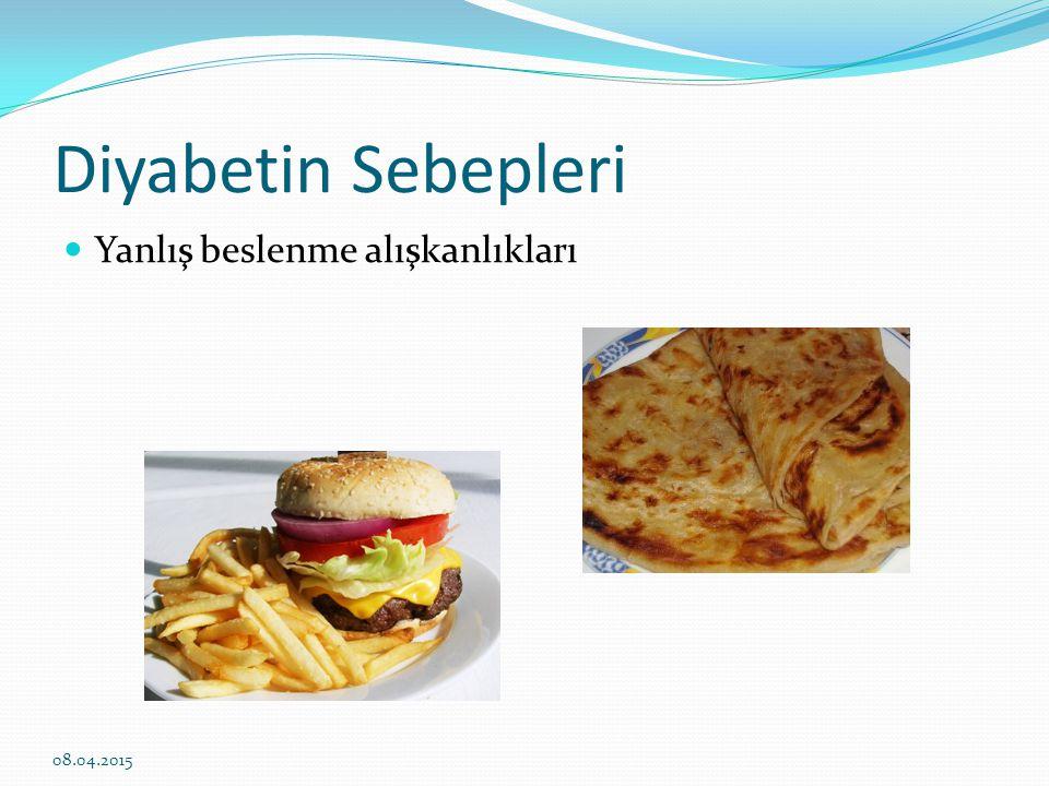 Diyabetin nedenleri Ve sonuç olarak obezite (şişma n lık) 08.04.2015