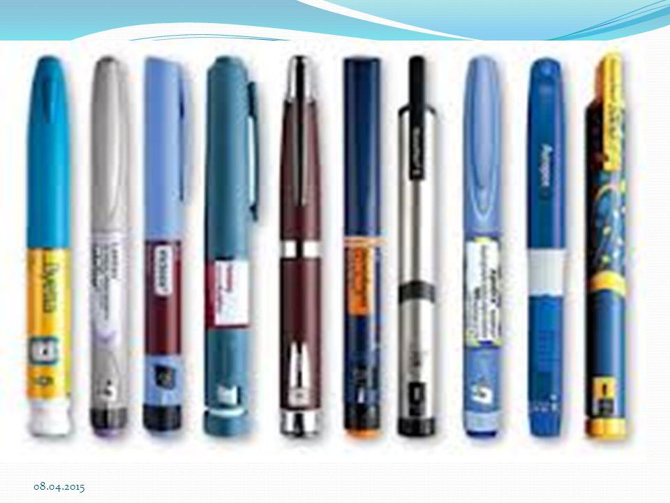 İnsülin pompası Sürekli cilt altı insülin infüzyon pompaları kullanılır Genellikle Tip 1 Diyabetlilerde, çok değişken şeker ölçümleri olanlarda tercih edilir.