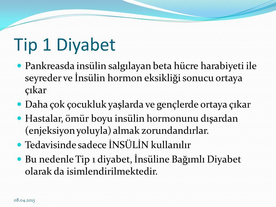 Tip 1 diyabet neden olur.