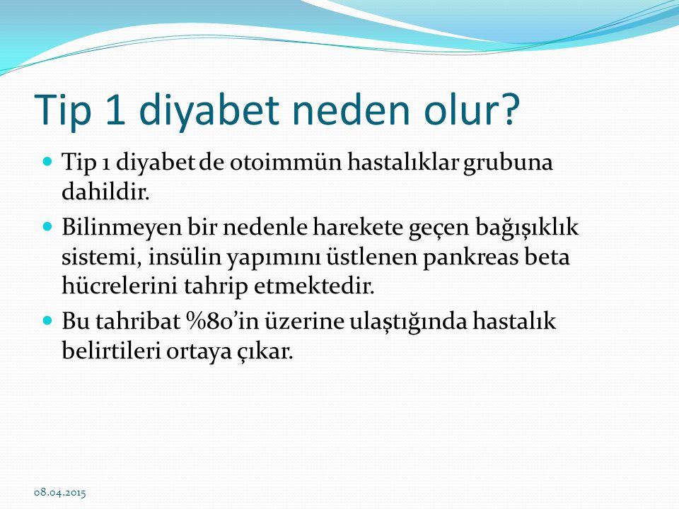 Tip 2 diyabet En çok karşılaştığımız diyabet türü Daha çok erişkinlerin hastalığı Diyabet hastalarının %80-90'ı Tip 2 Diyabettir Şu an ülkemizdede fast-foot beslenmenin artması, egzersizlerin giderek azalması ile obez çocuk sayısı giderek artış göstermiş ve çocukluk yaşlarında Tip 2 Diyabet görülmeye başlamıştır.