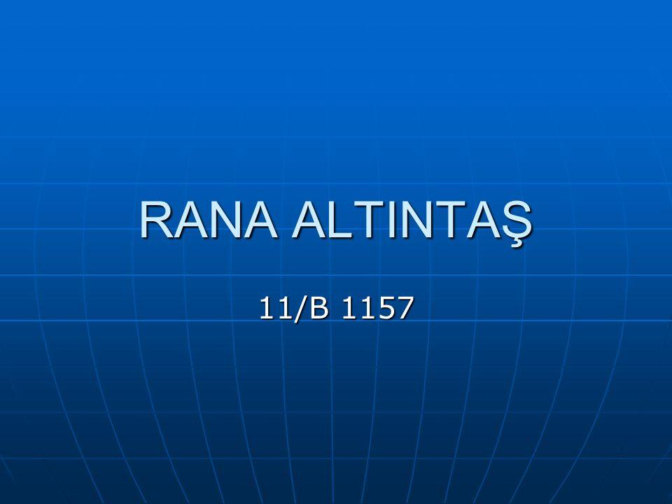 RANA ALTINTAŞ 11/B 1157