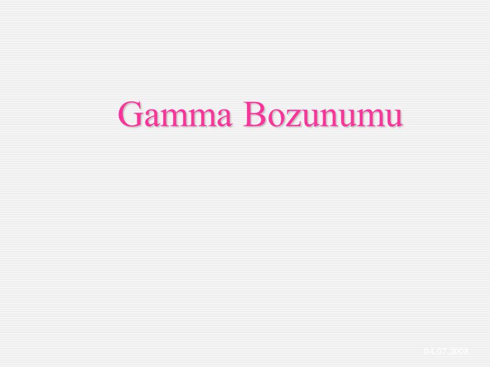 Şekilde uyarılmış bir çekirdeğin bir üst enerji seviyesinden bir alt enerji seviyesine geçerken: Başlangıç taki enerji gamma ve ürün çekirdek aralarında paylaşırlar.