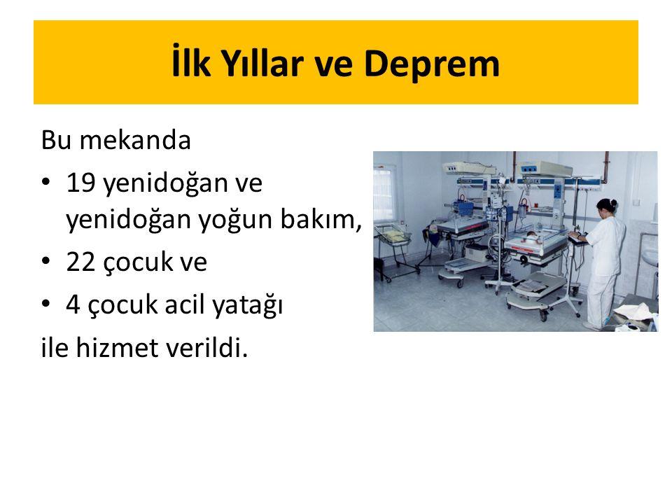 Bu mekanda 19 yenidoğan ve yenidoğan yoğun bakım, 22 çocuk ve 4 çocuk acil yatağı ile hizmet verildi.
