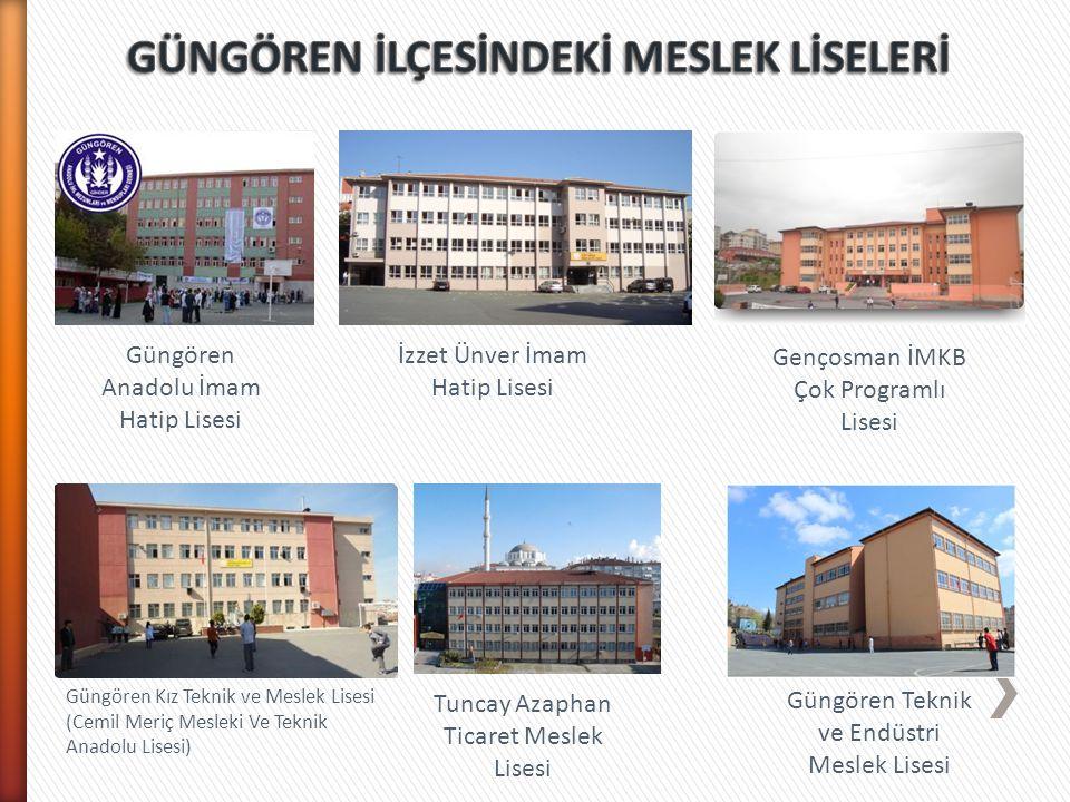 Okul AdıGüngören Anadolu İmam Hatip Lisesi Telefon0212 568 8641 Fax0212 568 7307 Web Adresihttp://gungorenanadoluihl.meb.k12.tr AdresiGençosman Mah.