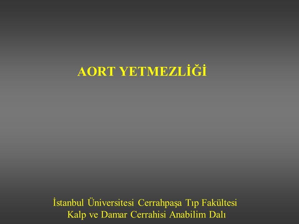 İstanbul Üniversitesi Cerrahpaşa Tıp Fakültesi Kalp ve Damar Cerrahisi Anabilim Dalı AORT YETMEZLİĞİ