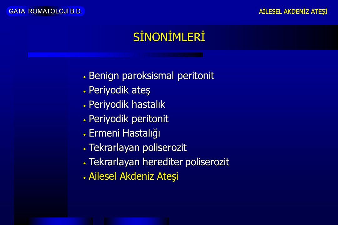 GATA ROMATOLOJİ B.D.