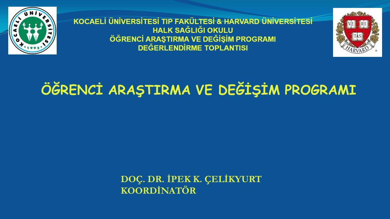 ÖĞRENCİ ARAŞTIRMA VE DEĞİŞİM PROGRAMI DOÇ.DR. İPEK K.