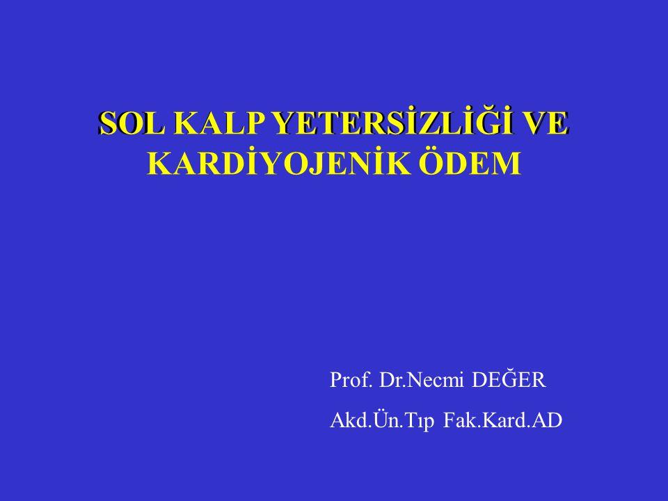 I – Oksijenasyon 2 – Medikal Tedavi a –Morphine ve analogları b –Vasodilatörler 1- Nitratlar 2- Sodyum Nitroprusside 3- Nesiritide c – ACE İnhibitörleri d – Diüretikler g – İnotropik ajanlar 1- Dopamin, Dobutamine 2- Phosphodiesterase inhibitörleri 3- Levosimendan 4- Kardiyak glikosidler ESC guidelines on management of Acute heart failure 2005 AKUT KALP YETERSİZLİĞİ - TEDAVİ
