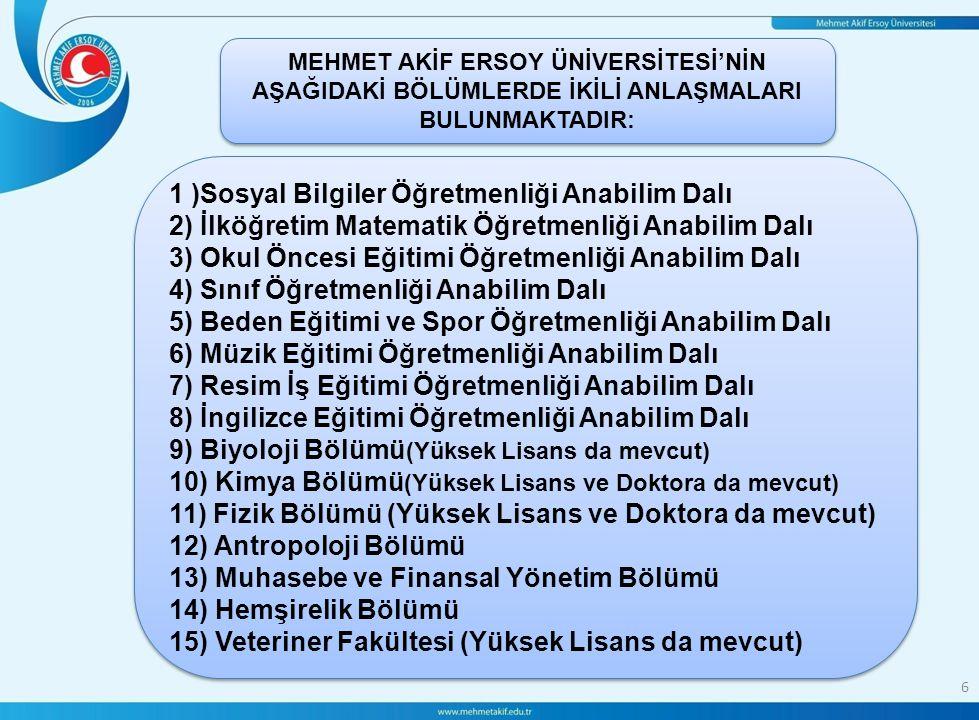 le 7 ERASMUS PROGRAMI NE DEĞİLDİR.1-Erasmus programı yabancı dil öğrenme programı değildir.