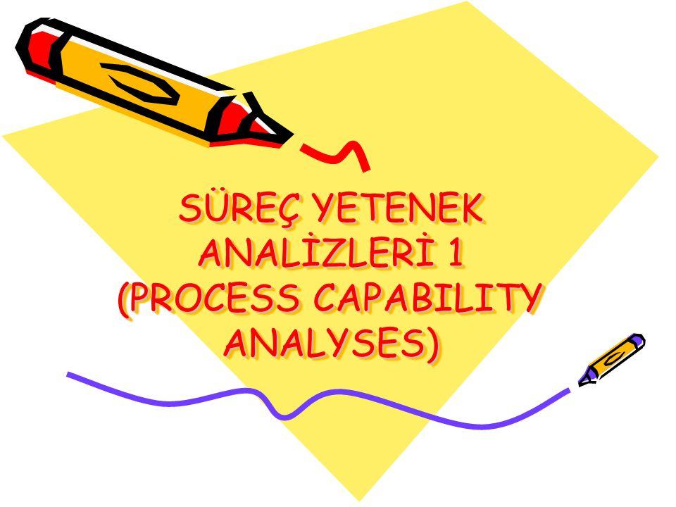 SÜREÇ YETENEK ANALİZLERİ 1 (PROCESS CAPABILITY ANALYSES)