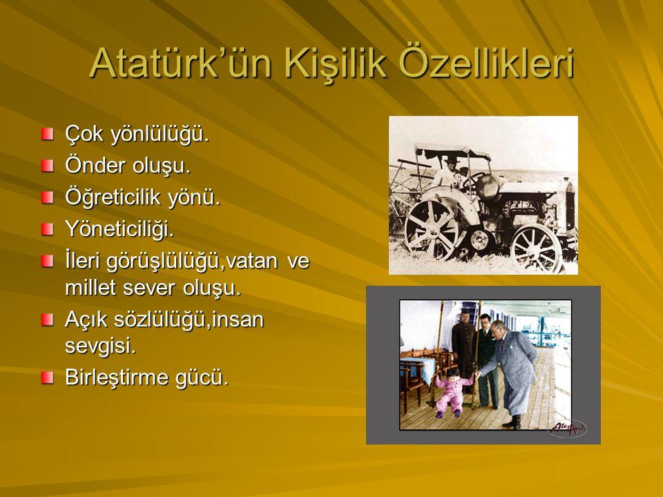 Eserleri En büyük eseri Türkiye Cumhuriyeti'dir. Nutuk(söylev) adında önemli bir eseri vardır. Ayrıca, Atatürk ilkeleri ve İnkılapları da sonsuza kada