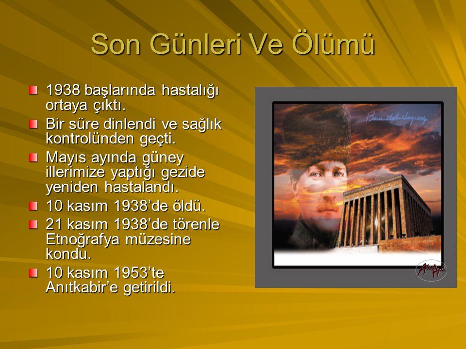 Atatürk'ün Kişilik Özellikleri Çok yönlülüğü. Önder oluşu. Öğreticilik yönü. Yöneticiliği. İleri görüşlülüğü,vatan ve millet sever oluşu. Açık sözlülü