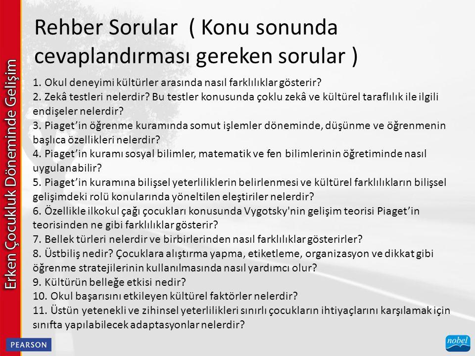  OKULLAŞMA VE STANDARTLAR HAREKETİ  11.