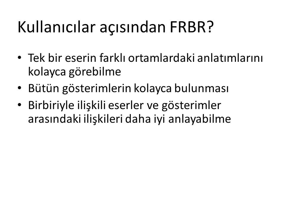 Kullanıcılar açısından FRBR.