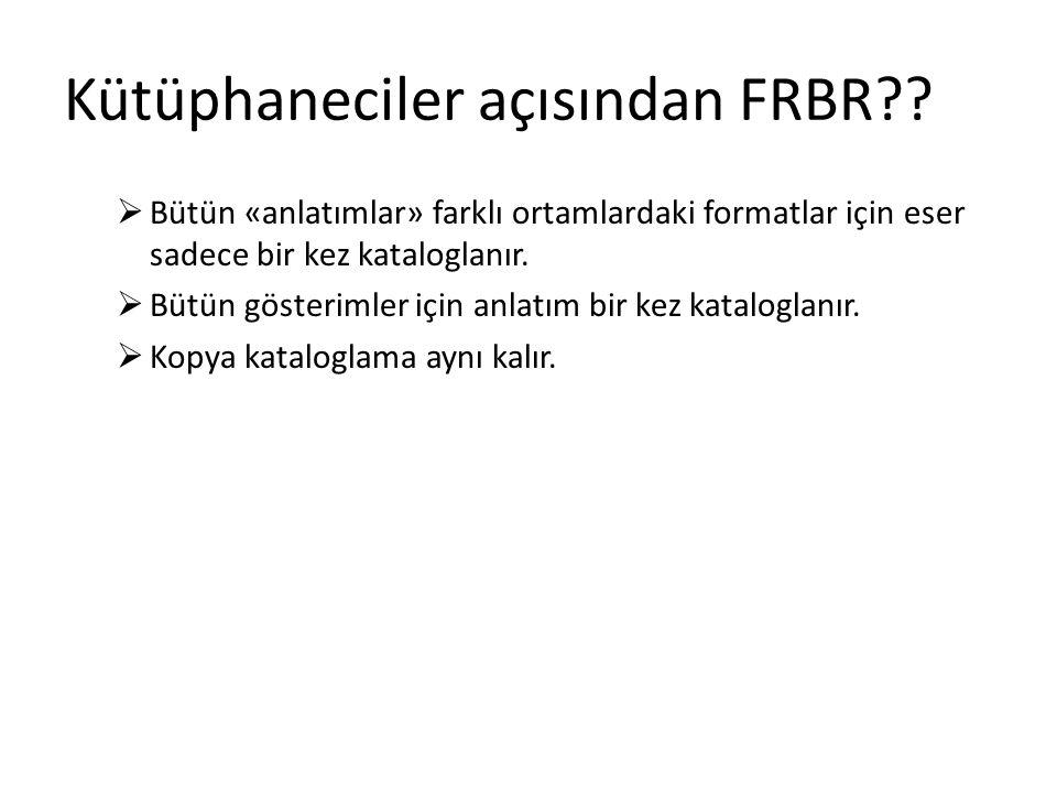 Kütüphaneciler açısından FRBR?.