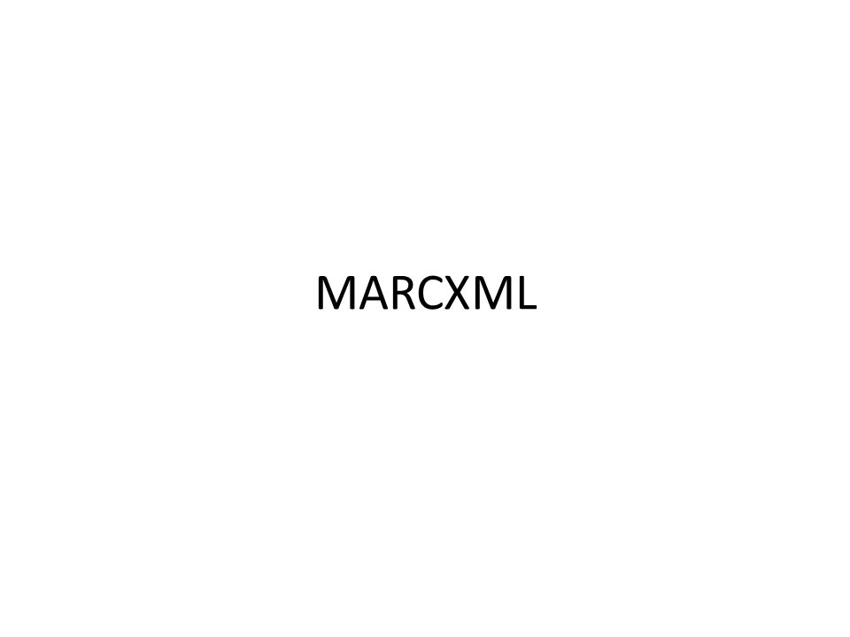 MARCXML