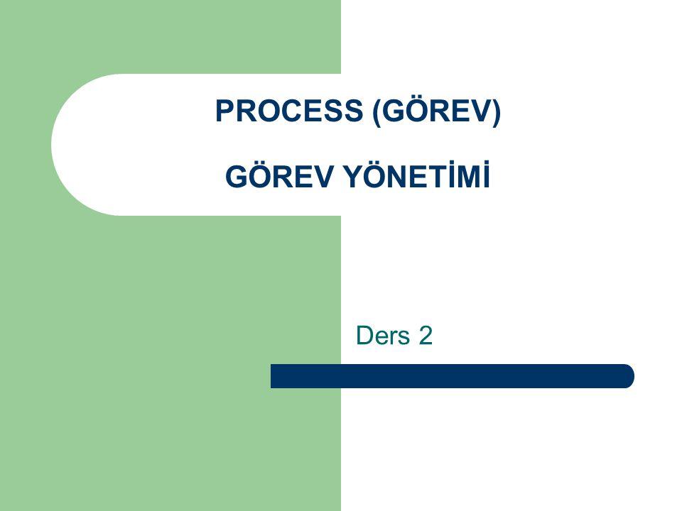 PROCESS (GÖREV) GÖREV YÖNETİMİ Ders 2