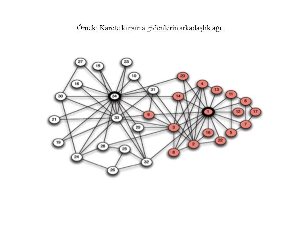 Örnek: Karete kursuna gidenlerin arkadaşlık ağı.