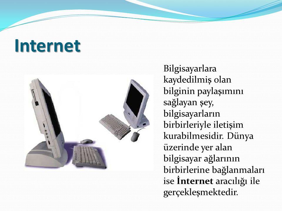 Küresel Ağ Bağlantıları Günümüzde www adı verilen grafik ara yüz sayesinde internette kolayca bilgi alışverişi yapılmaktadır.