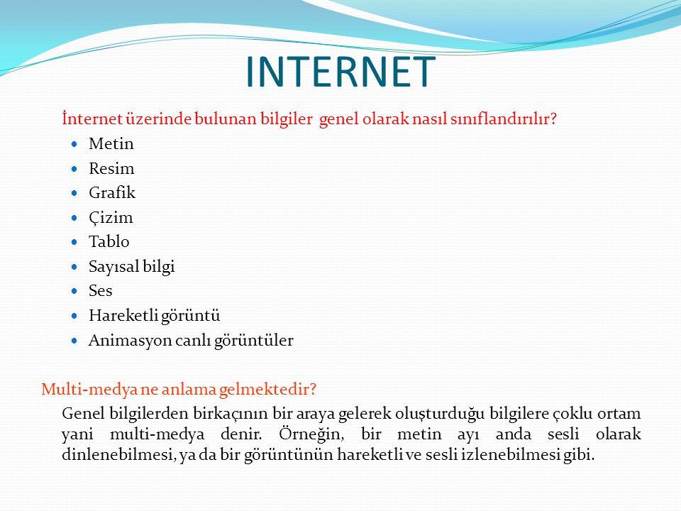 INTERNET Sabit içerik bilgi nedir.