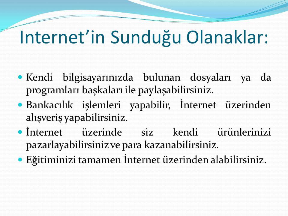 INTERNET Bu kadar farklı sistem ve bilgisayar çeşiti varken, internet nasıl böylesi bir uyum içerisinde çalışabilir .