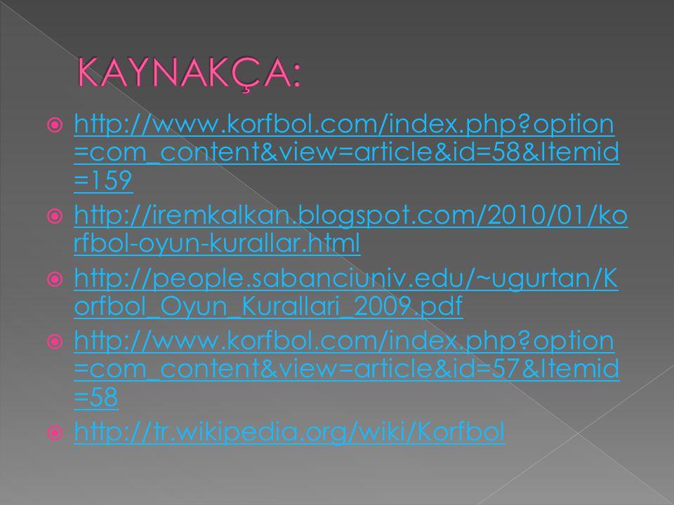  http://www.korfbol.com/index.php?option =com_content&view=article&id=58&Itemid =159 http://www.korfbol.com/index.php?option =com_content&view=articl