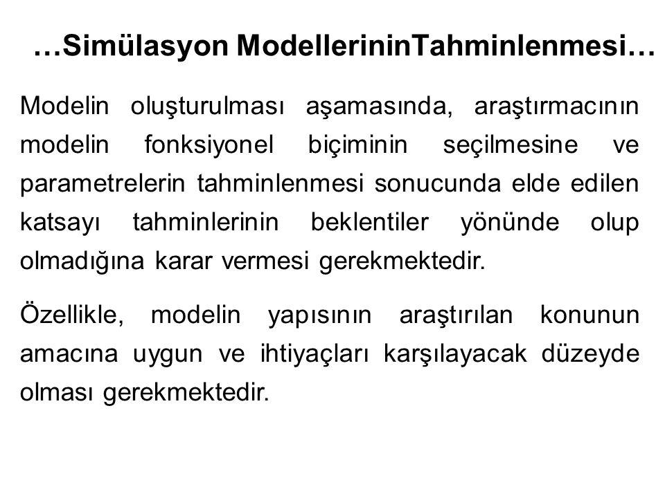 Modelin oluşturulması aşamasında, araştırmacının modelin fonksiyonel biçiminin seçilmesine ve parametrelerin tahminlenmesi sonucunda elde edilen katsayı tahminlerinin beklentiler yönünde olup olmadığına karar vermesi gerekmektedir.