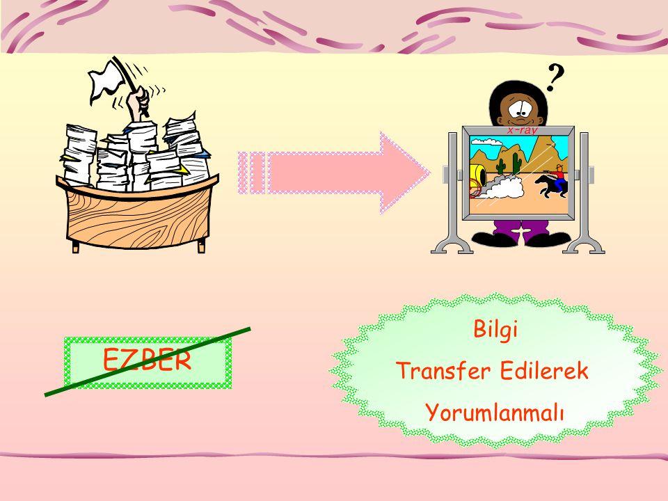 EZBER Bilgi Transfer Edilerek Yorumlanmalı