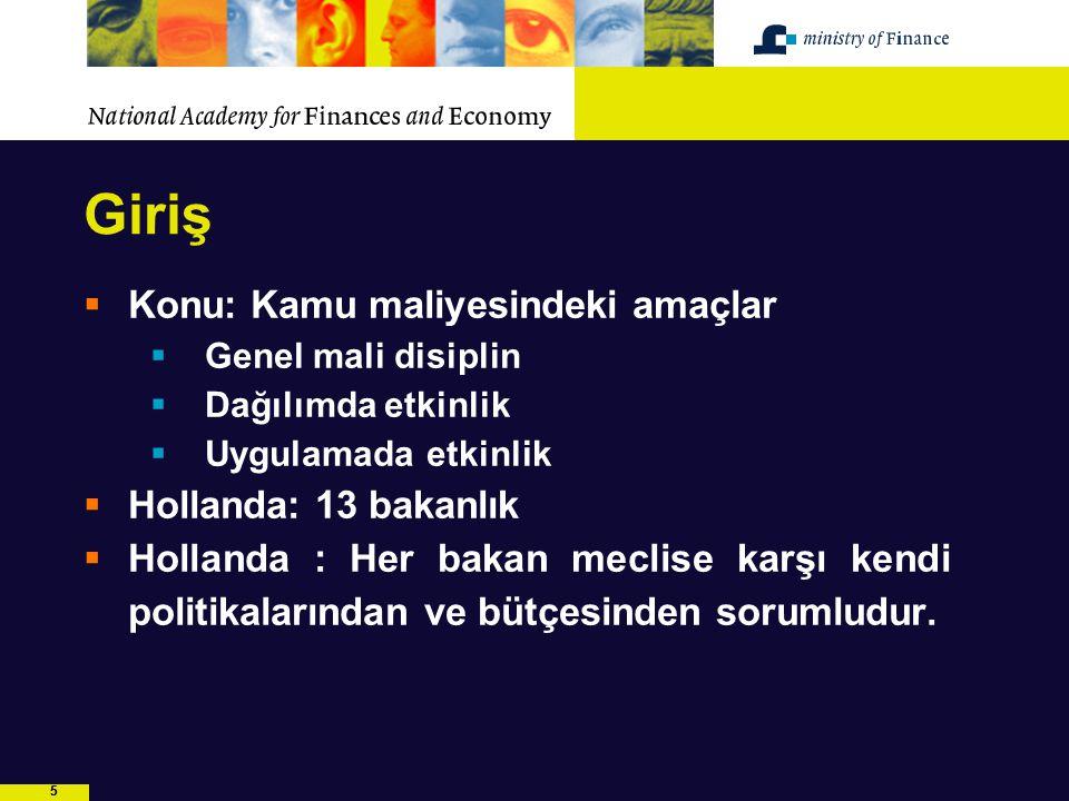 6 X Bakanlığı GM1 GM2 GM3 GM4 FEZ Diğer İDD Müdürlükler: Politikaların belirlenmesinden çok uygulanması sürecinde yer alır HARCAMACI BAKANLIK