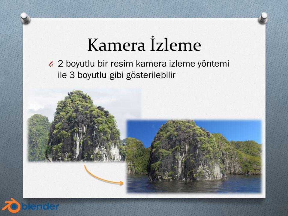 Kamera İzleme O 2 boyutlu bir resim kamera izleme yöntemi ile 3 boyutlu gibi gösterilebilir