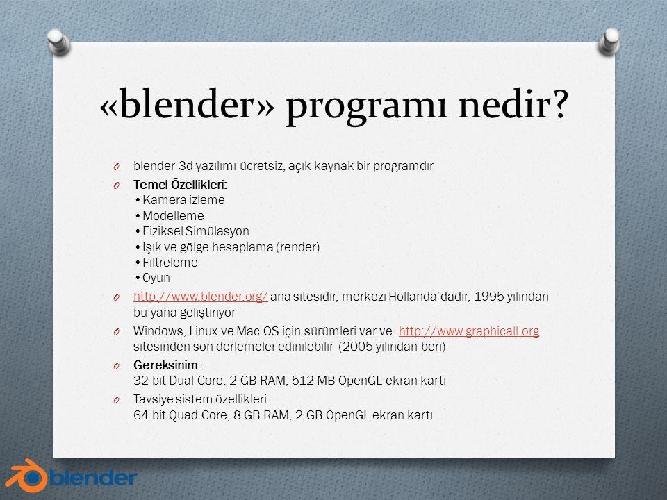 «blender» programı nedir.
