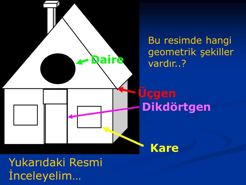 Yukarıdaki Resmi İnceleyelim… Bu resimde hangi geometrik şekiller vardır...
