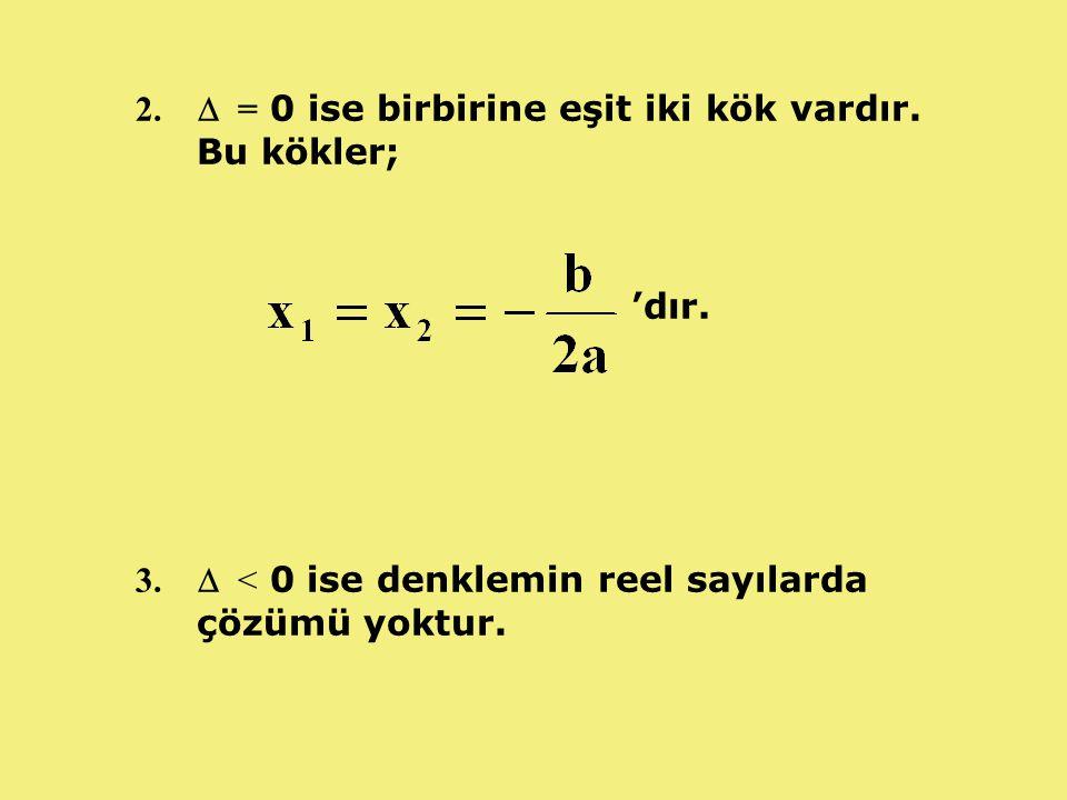 ÖRNEK: 3x 2 -10x+3=0 denkleminin çözüm kümesini bulunuz.