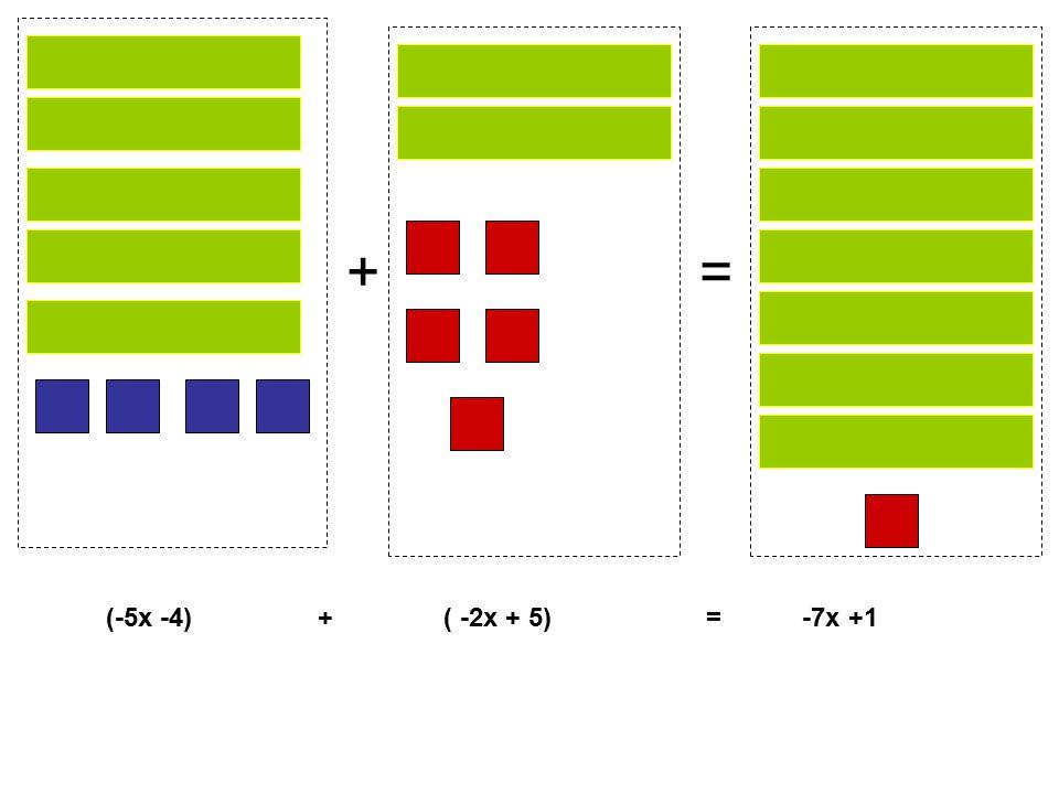 += (-5x -4) + ( -2x + 5) = -7x +1